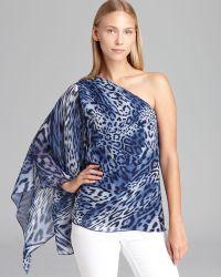 Grayse - One Shoulder Animal Print Top - Lyst
