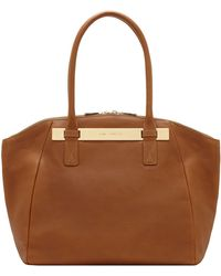 Vince Camuto Jace Leather Tote - Lyst