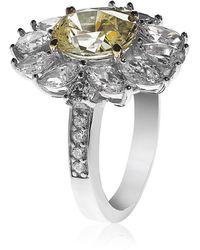 Carat* - Oval Flower Ring - Lyst