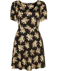 Topshop Vintage Flower Flippy Dress - Lyst