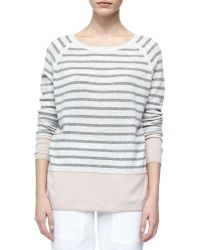Vince Colorblock Cashmere Sweater with Raglan Sleeves - Lyst