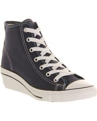 Converse All Star Hiness Trainers Navy - Lyst