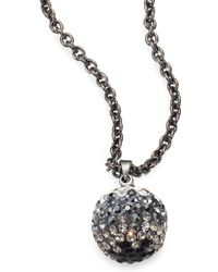 ABS By Allen Schwartz - Pave Ombre Pendant Necklace - Lyst