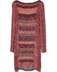 Antik Batik Pink Short Dress - Lyst