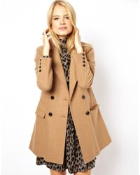 Asos Longline Double Breasted Coat - Lyst