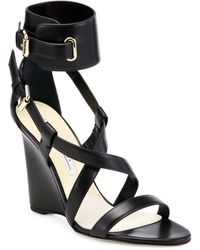 Brian Atwood | Hegemone Leather Cuff Sandals | Lyst