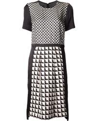 By Malene Birger Geometric Print Dress - Lyst