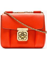 Chloé Red Grained Leather Small Elsie Bag - Lyst