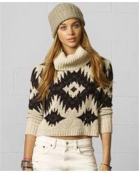 Denim & Supply Ralph Lauren - Snowflake print Turtleneck Sweater - Lyst