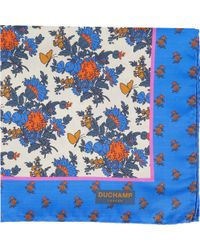 Duchamp Gardenprint Twill Pocket Square - Lyst
