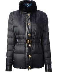 Emilio Pucci Beaver Collar Padded Jacket - Lyst