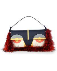 Fendi Monster Fox Fur Baguette Shoulder Bag - Lyst