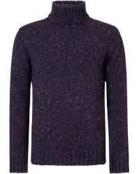 John Lewis - Made in England Donegal Roll Neck Jumper - Lyst