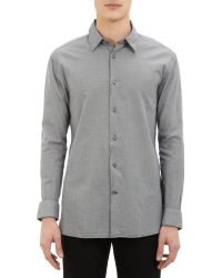 John Varvatos Micro Houndstooth Shirt - Lyst