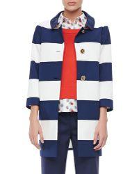 Kate Spade Franny 34sleeve Striped Coat - Lyst