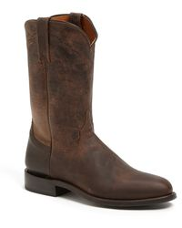 Lucchese Goat Roper Argyle Stitch Leather Boot - Lyst