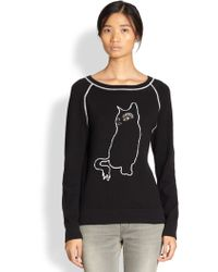 Marc By Marc Jacobs Rue Cat Intarsia Sweatshirt - Lyst