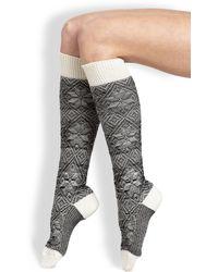Maria La Rosa Snowflake Knee-High Socks black - Lyst