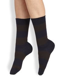 Maria La Rosa Striped Mid-Calf Socks - Lyst