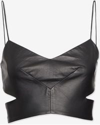 Nicholas - Cut Out Leather Bra Top - Lyst