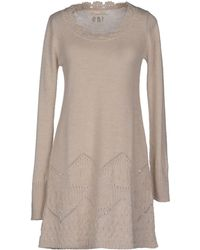 Odd Molly Beige Short Dress - Lyst