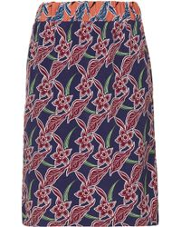 Topshop Tropical Relaxed Pencil Skirt - Lyst