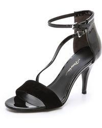 3.1 Phillip Lim Quill Asymmetrical Sandals - Lyst