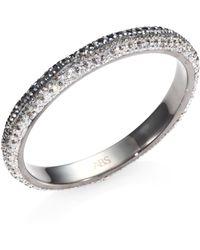 ABS By Allen Schwartz - Two-tone Pave Bangle Bracelet - Lyst