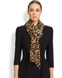 Alexander McQueen Silk Leopard Scarf - Lyst