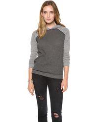Bella Luxx - Fleece Waffle Knit Sweatshirt - Lyst