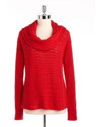 Calvin Klein Jeans Cowlneck Cotton Sweater - Lyst