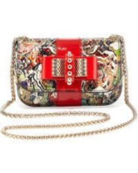 Christian Louboutin Sweet Charity Small Python Crossbody Bag Multi - Lyst