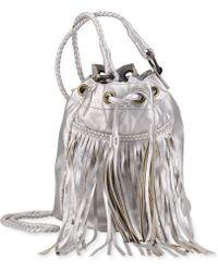 Denim & Supply Ralph Lauren - Metallic Faux-Leather Fringed Bucket Bag - Lyst
