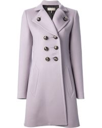 Emilio Pucci - Double Breasted Overcoat - Lyst
