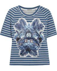 Emma Cook - Appliquéd Cottonjersey Tshirt - Lyst