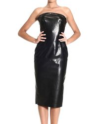 Ermanno Scervino Dresses Deep Neckline Leather Dress - Lyst