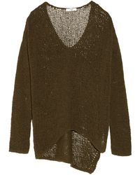 Helmut Lang Openknit Cotton blend Sweater - Lyst