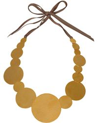 Herve Van Der Straeten - Goldplated Pailettes Necklace - Lyst