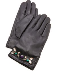 Juicy Couture - Glamour Girl Leather Gloves - Lyst