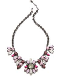 Juicy Couture - Multi Rhinestone Chain Necklace - Lyst