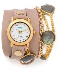 La Mer Collections - Stones By The Yard Labradorite Wrap Watch - Lyst