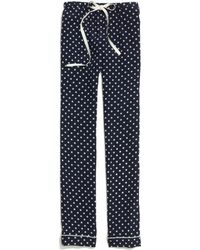 Madewell - Silk Pyjama Trousers in Domino Dot - Lyst