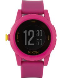 Nixon - Genie Digital Rubber Watch - Lyst