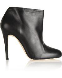 Oscar de la Renta Jack Leather Ankle Boots - Lyst