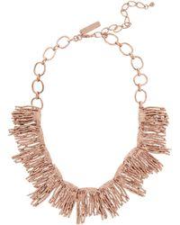 Oscar de la Renta Rose Goldplated Necklace - Lyst