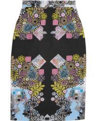 Preen By Thornton Bregazzi Sahara Printed Cotton Blend Skirt - Lyst