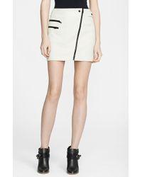Rag & Bone Hudson Leather Miniskirt - Lyst