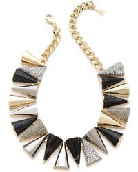 Sarah Magid - Agate Pave Cone Necklace - Lyst