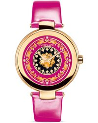 Versace Mystique Foulard Round Rose Gold Pvd Watch, 38Mm - Lyst