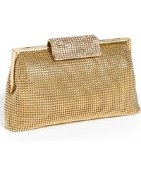 Whiting & Davis Crystal Frame Clutch - Lyst